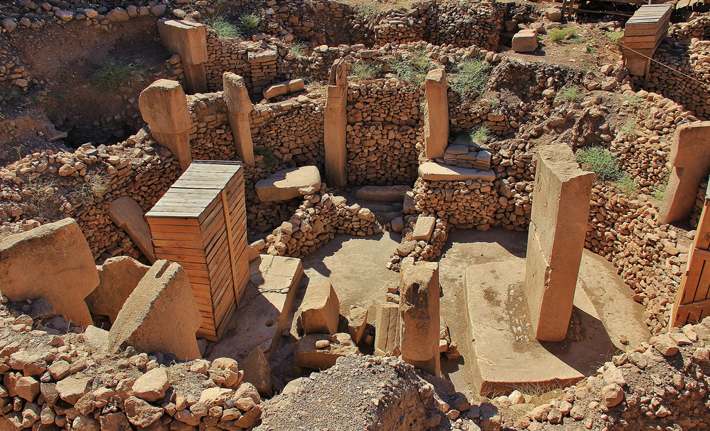 Figure 1: The Gobekli Tepe temple structures.